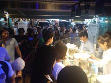 Crazy line for icecream