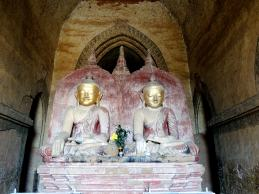 The king had two statues placed next to each other to repent for the assassination of his wife and sister while building the temple