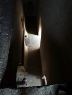 He showed us the hidden stairwell to the top while he waited below