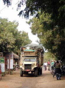 Overloaded truck in Old Bagan