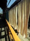 Silk string hanging in Inle Lake