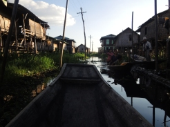 Floating village near Inle Lake