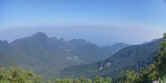 Fisheye view from the peak