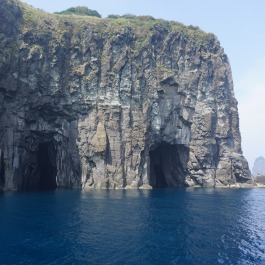 Ulleungdo boat tour Gwaneumdo pirate caves 1